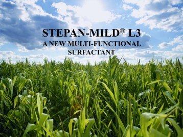 STEPAN-MILD L3 - Innovation Takes Root