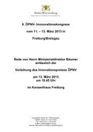Vortrag - Hartmut Bäumer - ÖPNV Innovationskongress