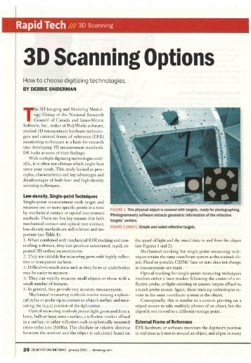 3D Scanning Options - Innovmetric Software