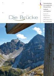 Gemeindezeitung der evangelischen Pfarrgemeinden Innsbruck ...
