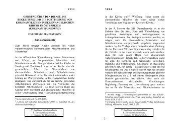 Ordnung über den Dienst, die Begleitung und die Fortbildung von ...