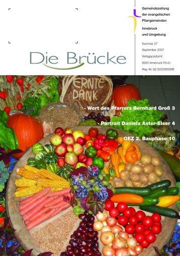 Nr. 27, September 2007 - Evangelische Pfarrgemeinde Innsbruck ...