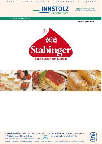 Stabinger Kuchenkatalog - Innstolz