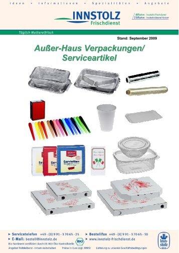 Innstolz Außer-Haus Verpackungen / Serviceartikel