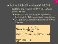 Il problema della dimensione dei dati, Hidden Markov Model (HMM)