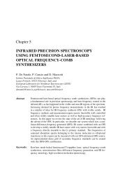 Infrared Precision Spectroscopy Using Femtosecond - Istituto ...