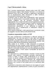 Videoterminali - Istituto Nazionale di Ottica Applicata