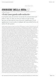 «Il mio Laser guarda nelle molecole» - Istituto Nazionale di Ottica ...