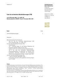 Liste der technischen Baubestimmungen (LTB) - bei inobatec
