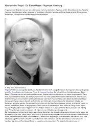 Hypnose bei Angst - Dr. Elmar Basse - Hypnose Hamburg