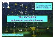 The ANTARES underwater neutrino detector