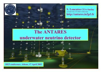 The ANTARES underwater neutrino detector