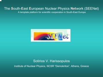 SEENet - Institute of Nuclear and Particle Physics