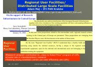 Regional User Facilities - Institute of Nuclear and Particle Physics