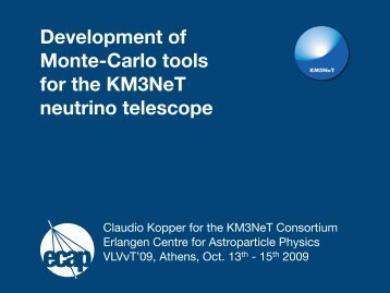Development of Monte-Carlo tools for the KM3NeT neutrino telescope