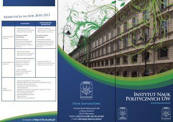 Instytut Nauk Politycznych UW