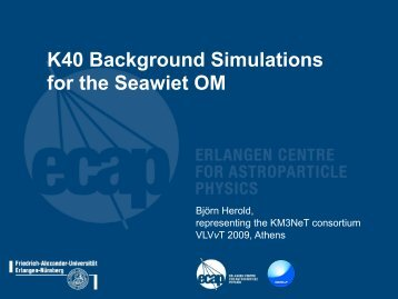 K40 Background Simulations for the Seawiet OM