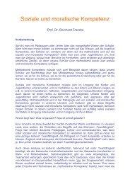 Soziale und moralische Kompetenz - Didaktikreport