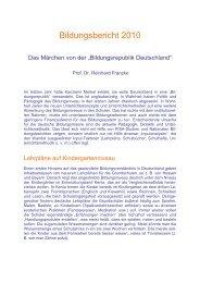 Bildungsbericht 2010 - Didaktikreport