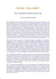 Schule – Quo vadis? - Didaktikreport
