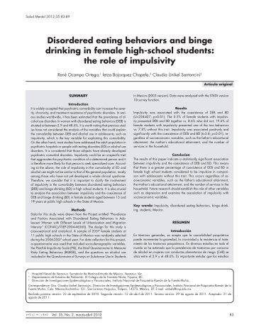 disordered eating behaviours Conclusions study findings indicate that disordered eating behaviors are not just an adolescent problem, but continue to be prevalent among young adults.