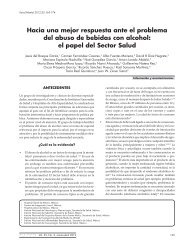 el papel del Sector Salud - Centro de Documentación e Información ...