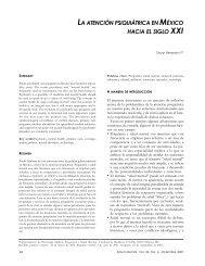 la atención psiquiátrica en méxico hacia el siglo - Centro de ...