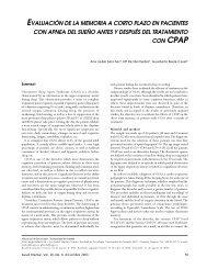 evaluación de la memoria a corto plazo en pacientes con apnea del ...
