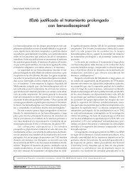 ¿Está justificado el tratamiento prolongado con benzodiacepinas?