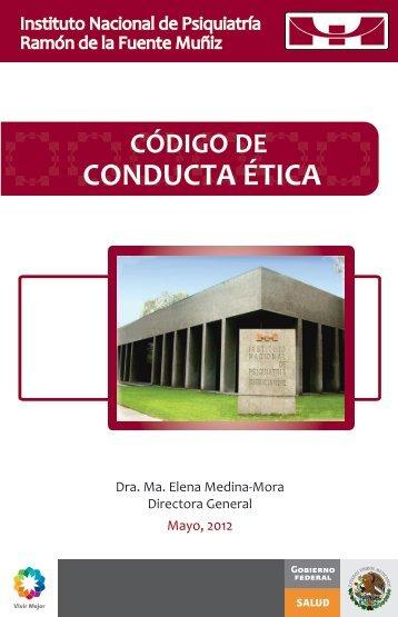 Portada Código de ética y conducta - Instituto Nacional de Psiquiatría