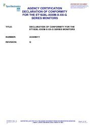 agency certification declaration of conformity for the et1928l-xxxm-x ...