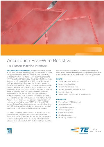 AccuTouch Five-Wire Resistive - Inputech AG