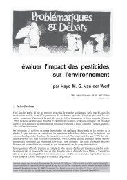 évaluer l'impact des pesticides sur l'environnement - Inra