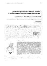 jachères apicoles et jachères fleuries : la biodiversité au menu de ...