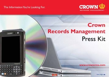 Records Management Press Kit - Crown Worldwide Group