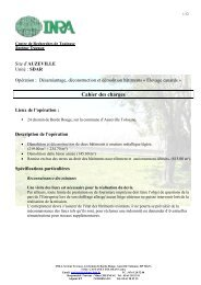 Cahier des charges - Inra