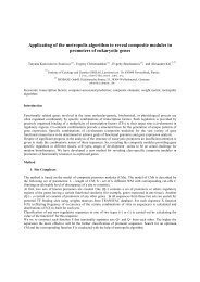 Applicating of the metropolis algorithm to reveal composite ... - Inra