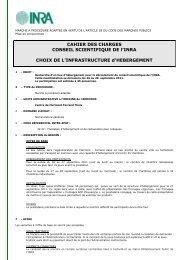 CAHIER DES CHARGES CONSEIL SCIENTIFIQUE DE l'INRA ...