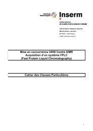 Mise en concurrence U858 Centre I2MR Acquisition d'un ... - Inra