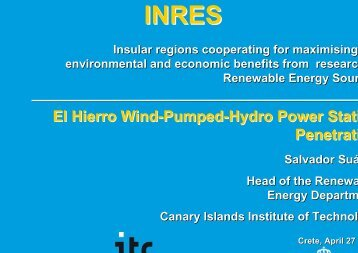 El Hierro Project - INRES