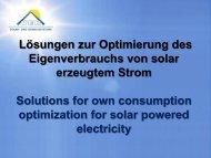 Lösungen zur Optimierung des Eigenverbrauchs von solar ... - INRES