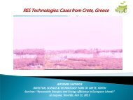 RES Technologies: Cases from Crete, Greece - INRES