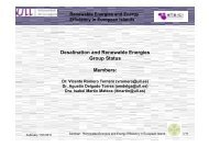 Desalination and Renewable Energies Group Status ... - INRES