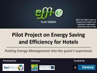 Pilot Project on Energy Save and Efficiency for Hotels - INRES