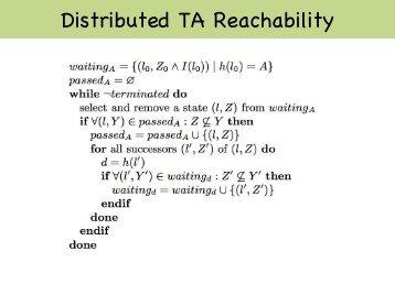 Distributed TA Reachability