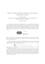 Waves in oscillator chains with Hertzian contacts and the ... - Grenoble