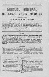 DE L'INSTEUGTION PEIMAIEE - Institut français de l'éducation