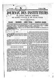JOURNAL DES INSTITUTEURS - Institut français de l'éducation