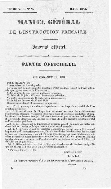 PARTIE OFFICIELLE . - Institut français de l'éducation