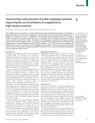 Characteristics and outcomes of public campaigns aimed at - INRUD